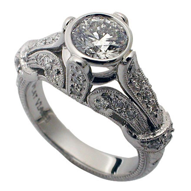 platinum-bezel-set-round-brilliant-diamond-vintage-ring