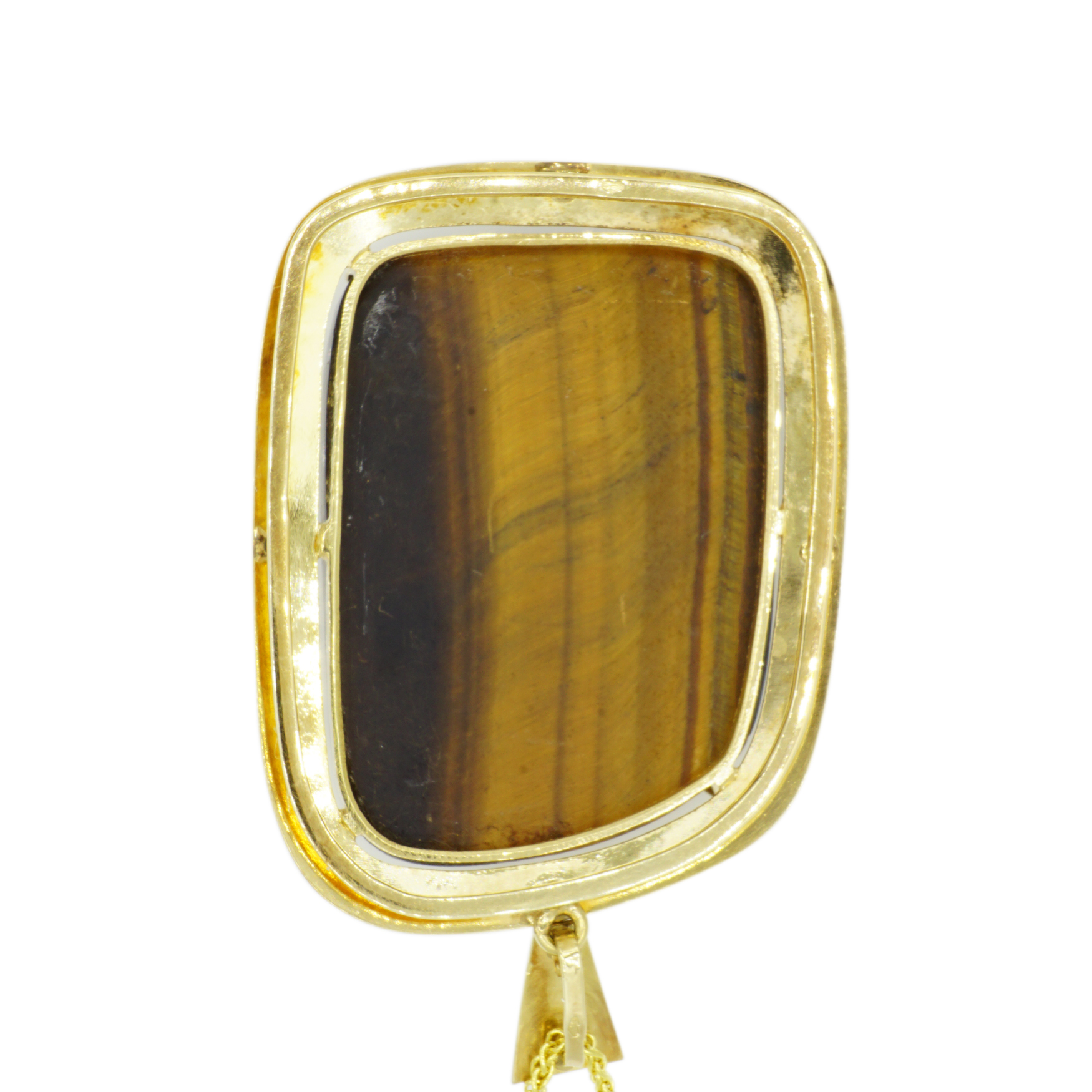 14kt Yellow Gold Egyptian Pendant - Inverted View
