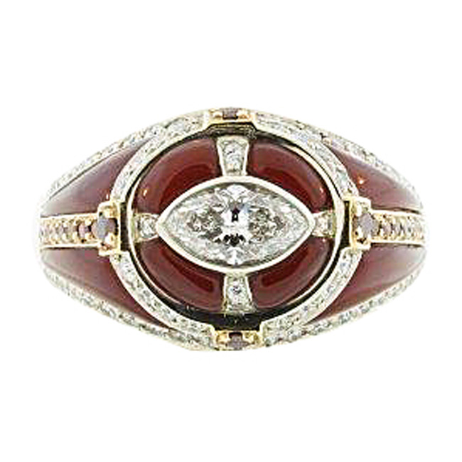 14kt White & Yellow Gold Carnelian Men's Ring by RGC