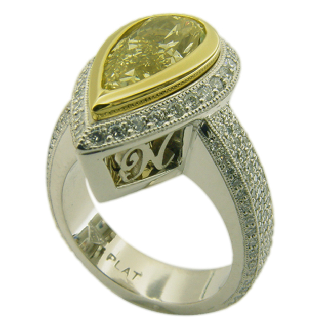 platinum-18kt-yellow-gold-yellow-pear-shaped-diamond-filigree-ring-by-rgc
