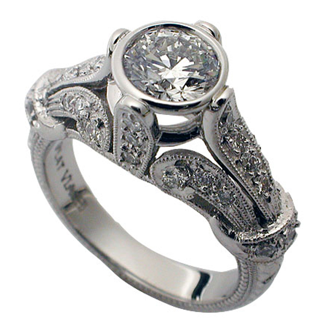 platinum-bezel-set-round-brilliant-diamond-vintage-ring