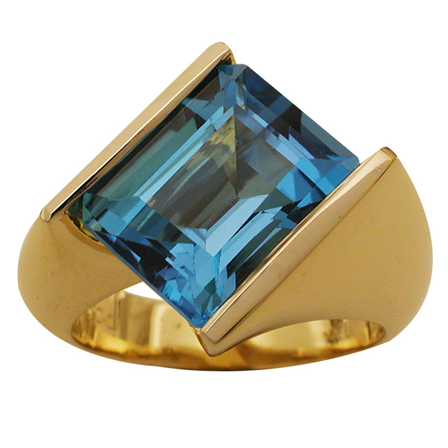 14kt Yellow Gold London Blue Topaz Ring by RGC