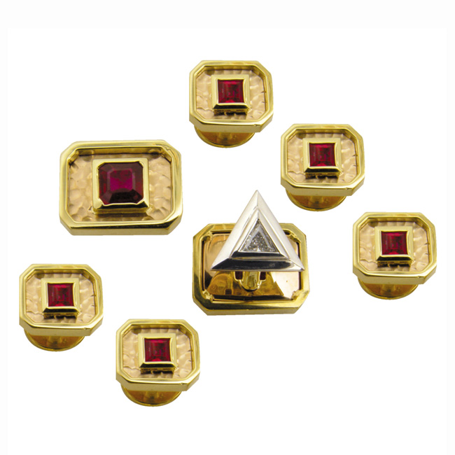 18kt-yellow-gold-platinum-ruby-cufflinks-tuxedo-set-by-rgc