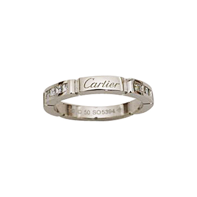 Estate Platinum Cartier Diamond Band