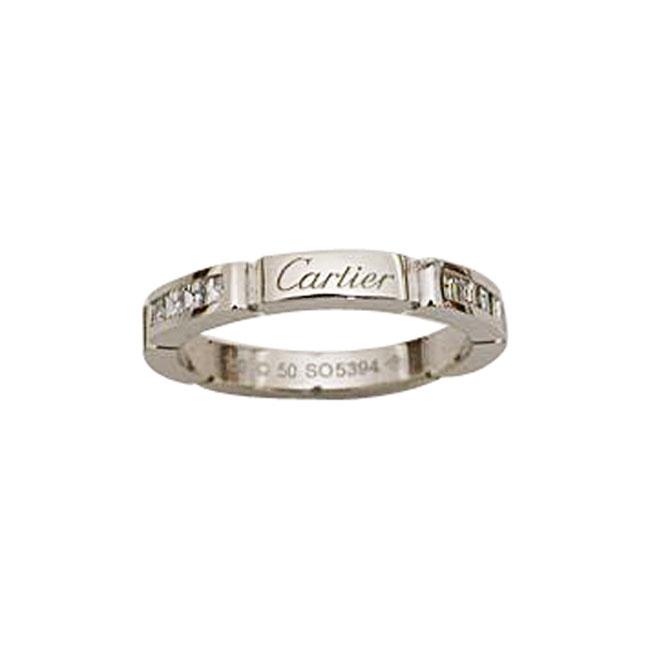 Estate Platinum Cartier Diamond Band
