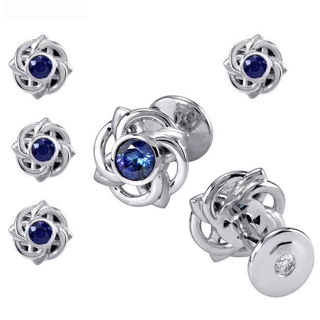 platinum-ceylon-sapphire-cufflinks-tuxedo-set-by-rgc