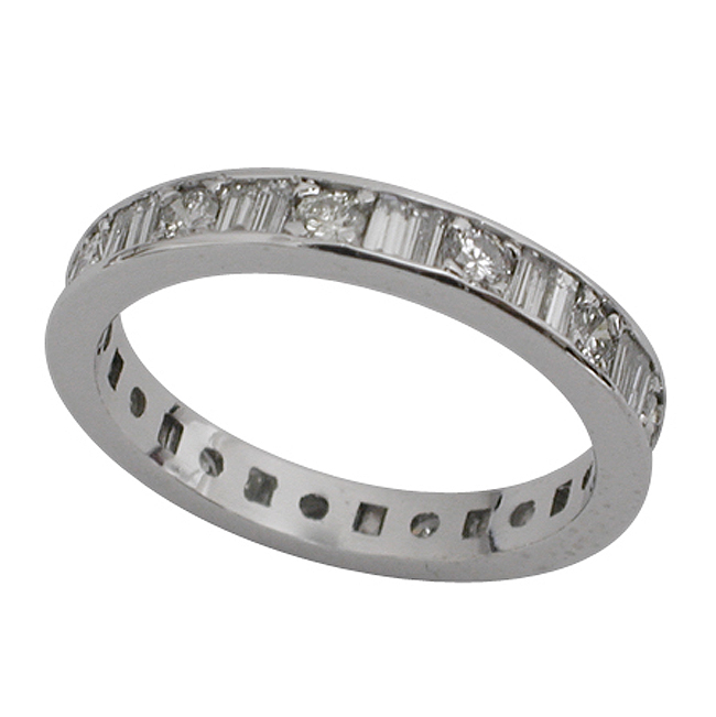 diamond prong carat band rings platinum eternity baguette fl pid women bands