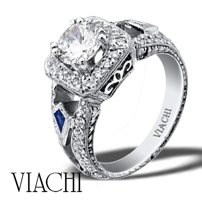 platinum-round-brilliant-diamond-sapphire-hand-engraved-ring-by-viachi