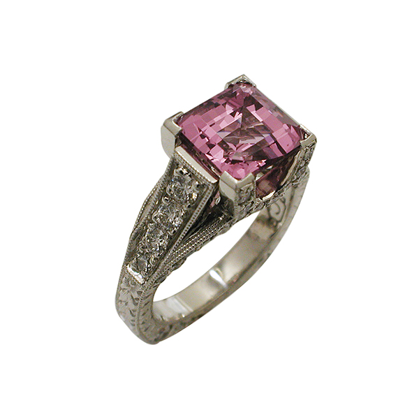colored stones spinel ring