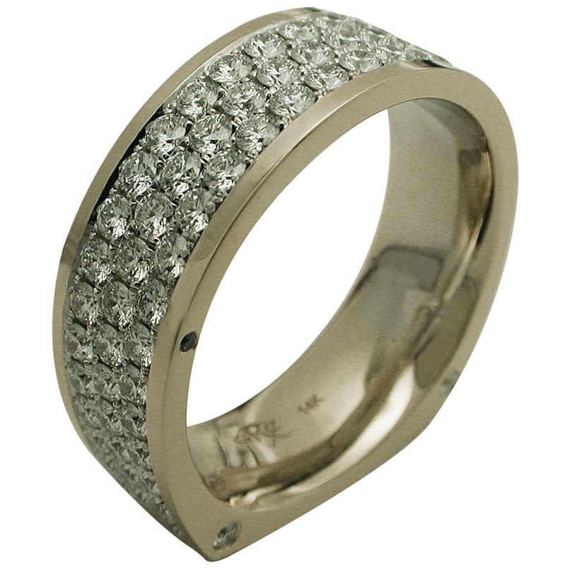 14kt Two Tone Gold Diamond Anniversary Band