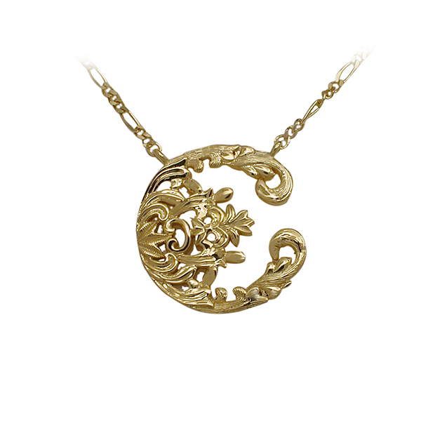 14kt Yellow Gold Floral Pendant