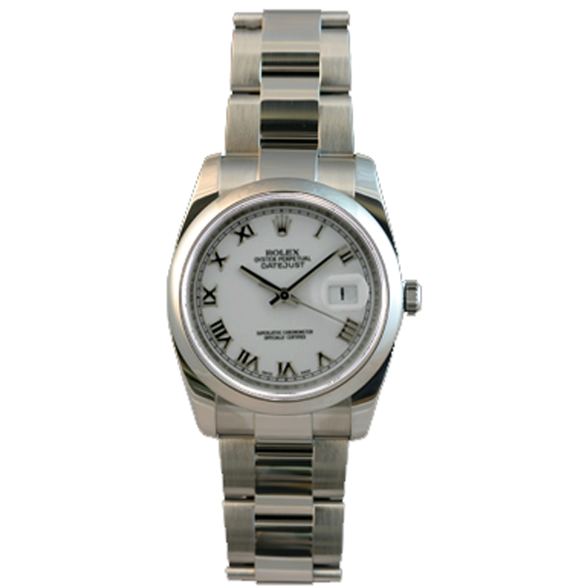 Men's Stainless Steel Date Just Rolex Watch