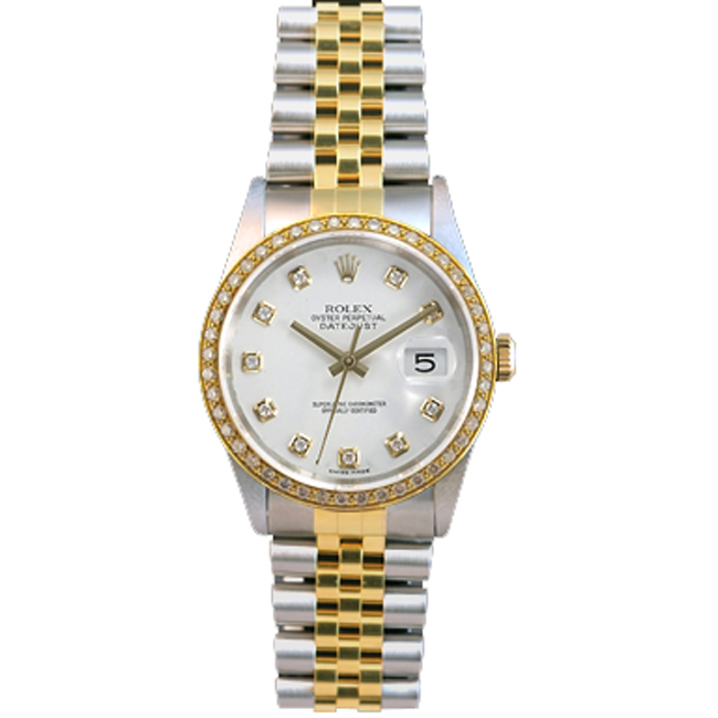 Men's Stainless Steel & 18kt Yellow Gold DateJust Rolex Watch