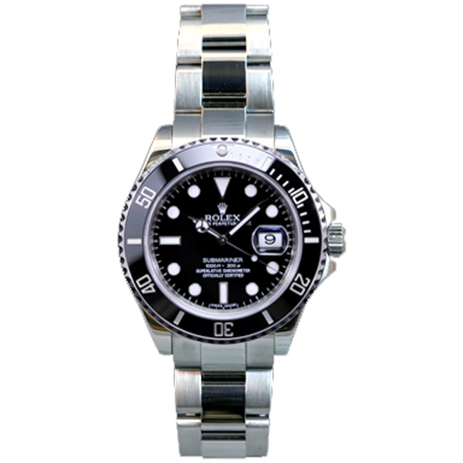 Men's Stainless Steel Submariner Rolex Watch