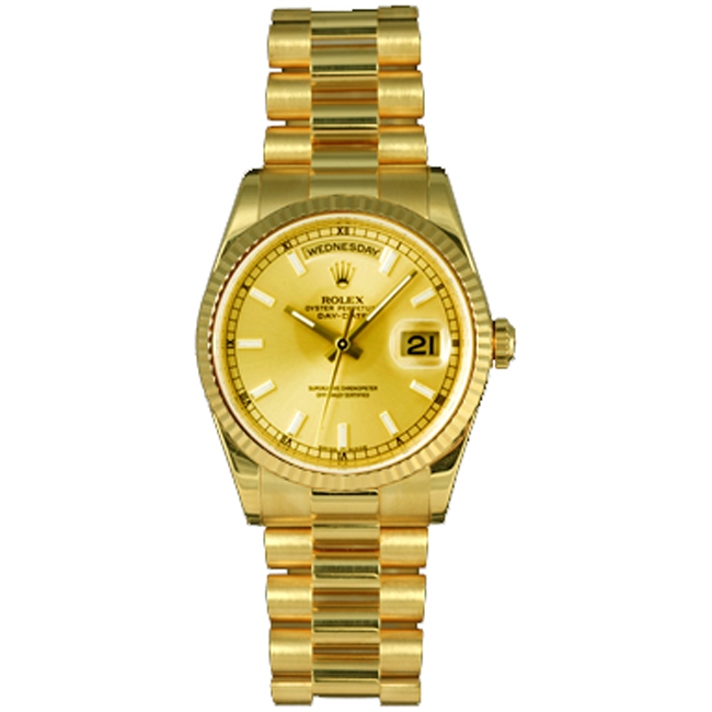 Gent's Yellow Gold President Day-Date Rolex Watch