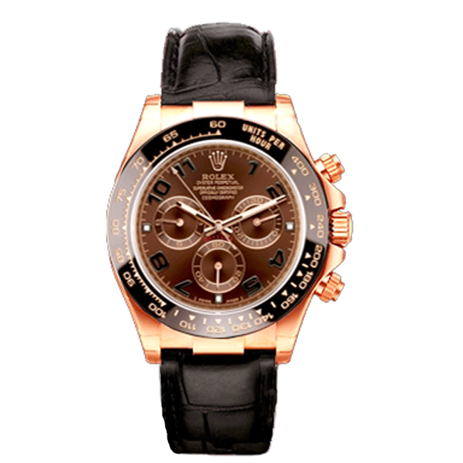 Men's 18kt Rose Gold Rolex Daytona Watch