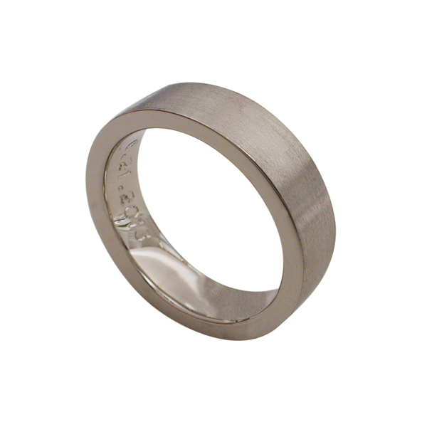 Men's 14kt White Gold Wedding Band