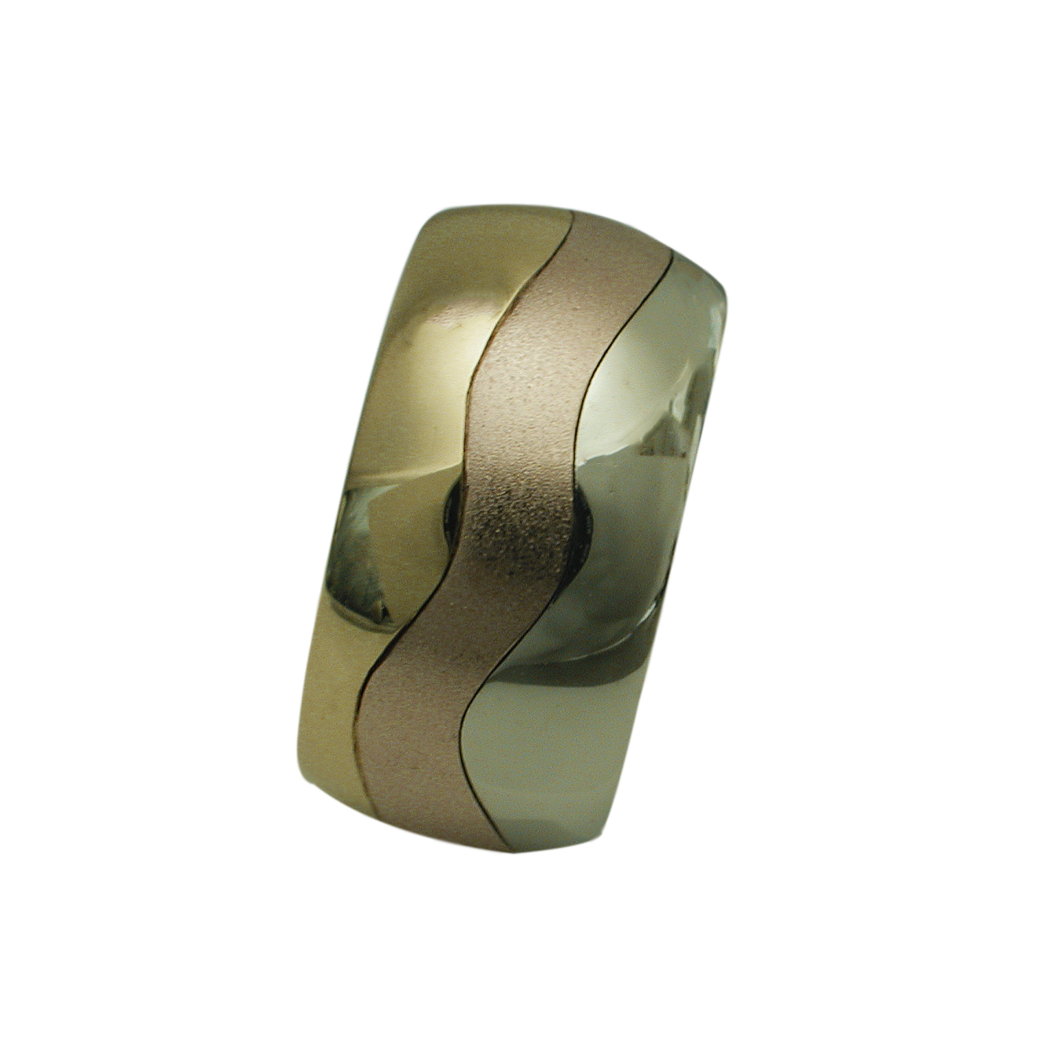Men's Tri-Color Gold Wedding Band