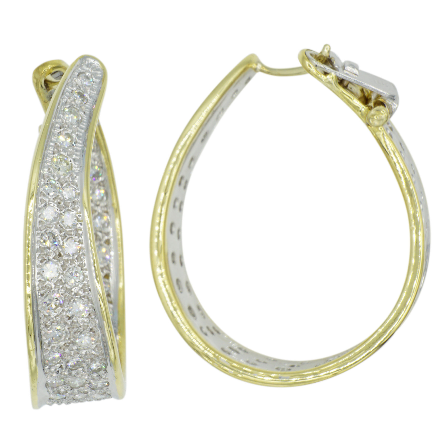 14kt Two-Tone Diamond Earrings