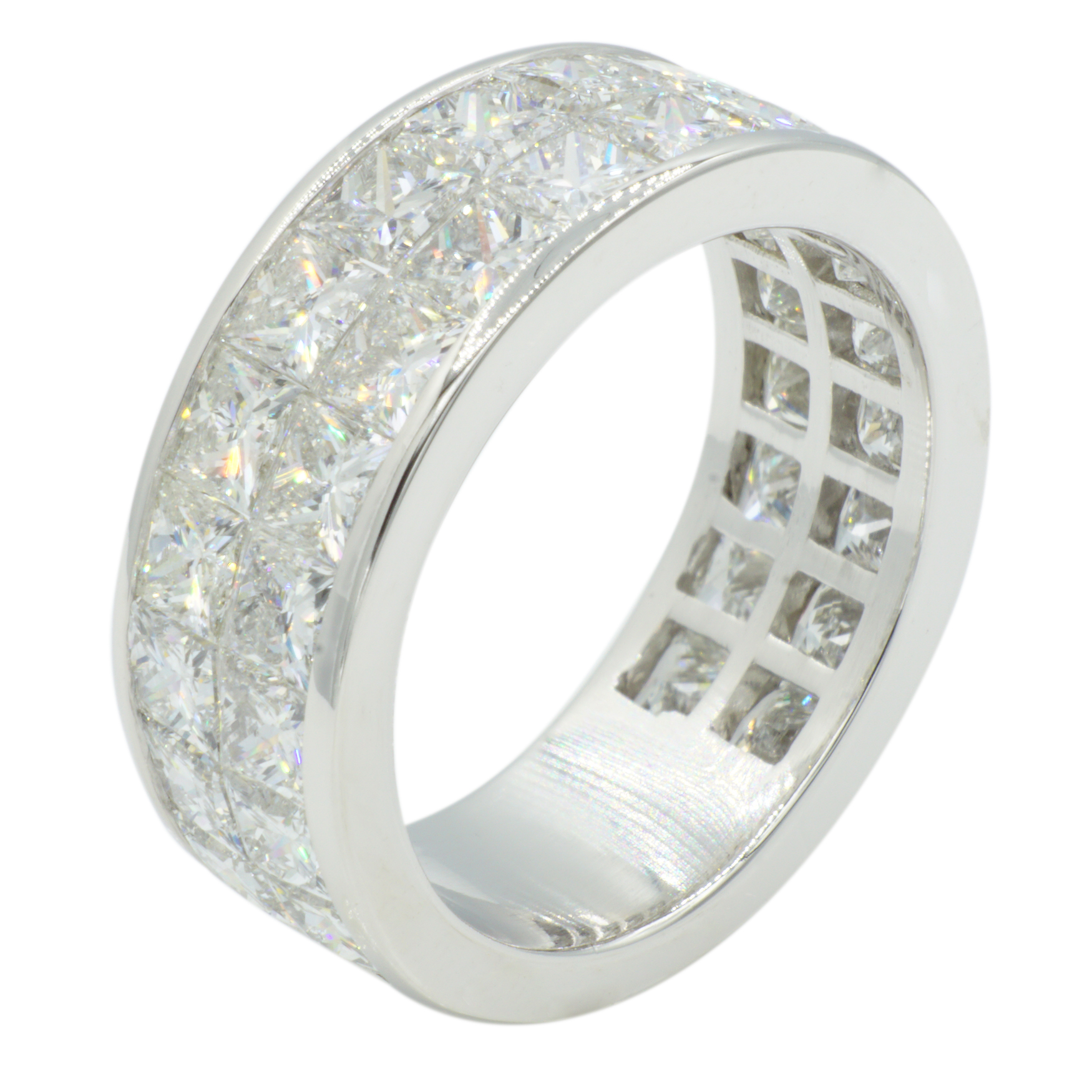14kt White Gold Invisible Diamond Band