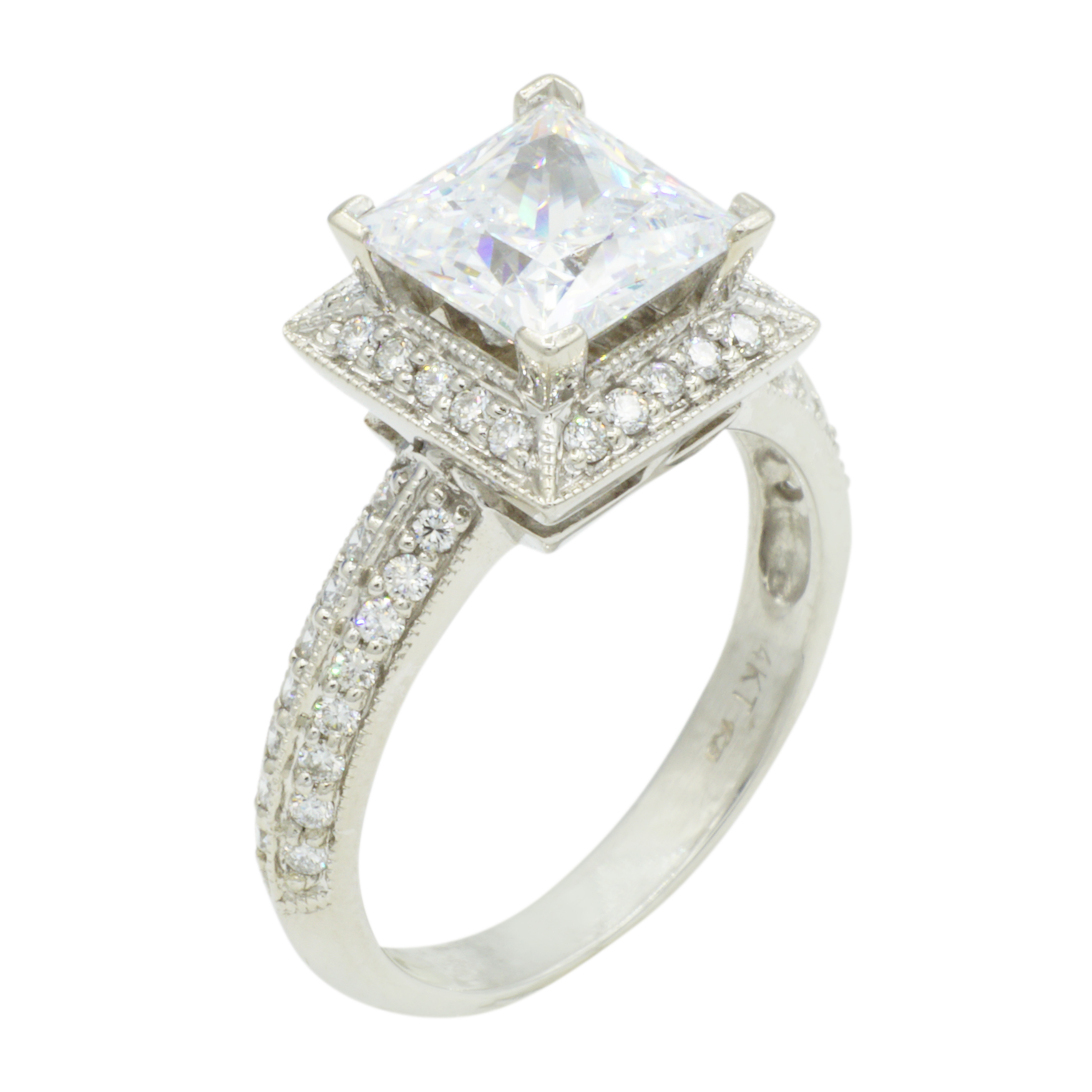 14kt-White-Gold-Princess-Cut-Ring