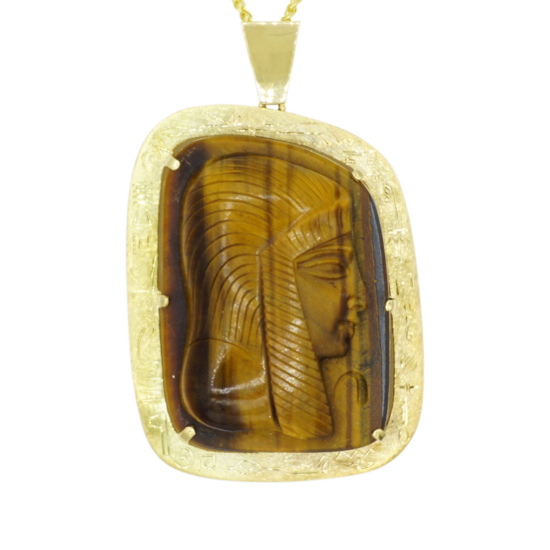 14kt Yellow Gold Egyptian Pendant