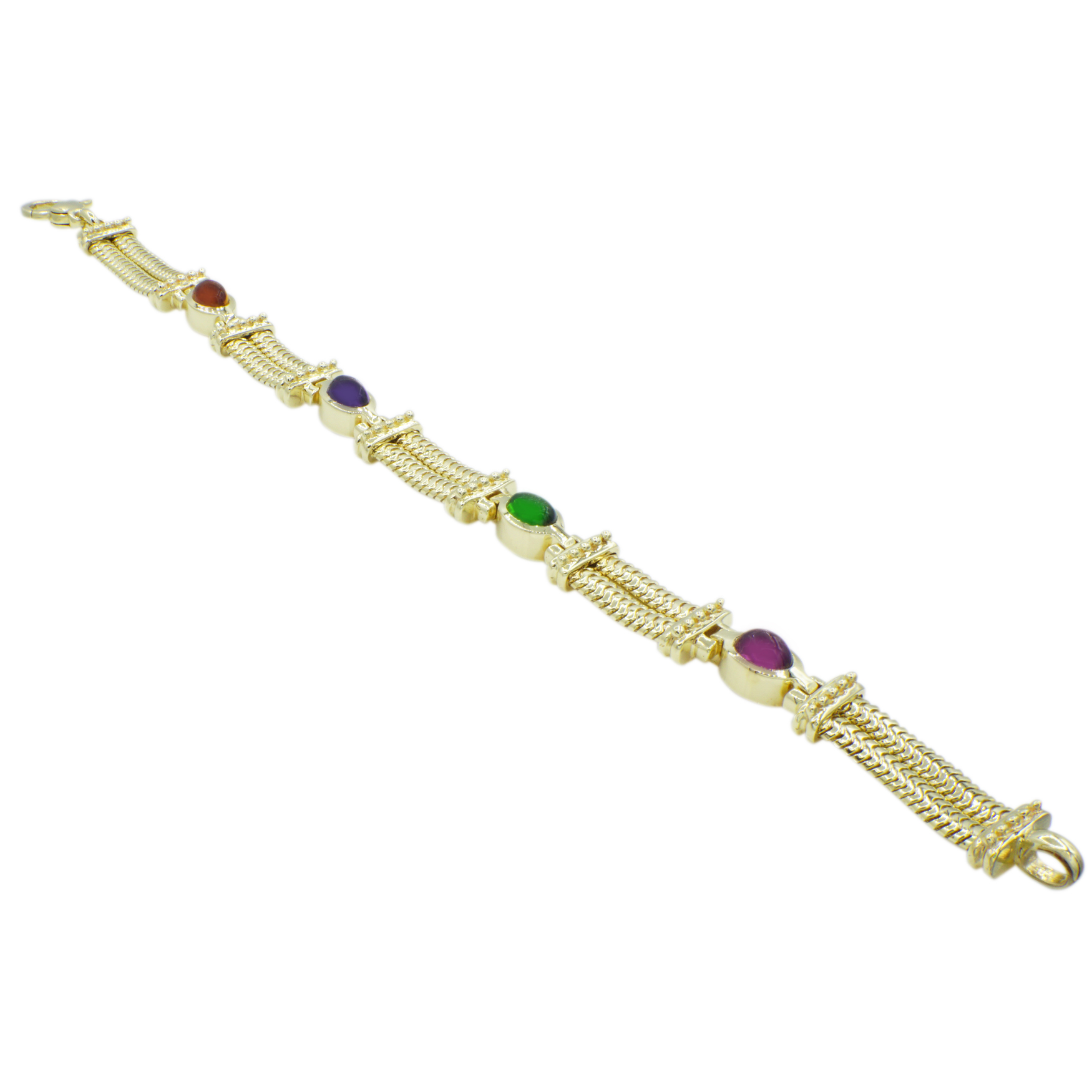 14kt-Yellow-Gold-Gemstone-Bracelet