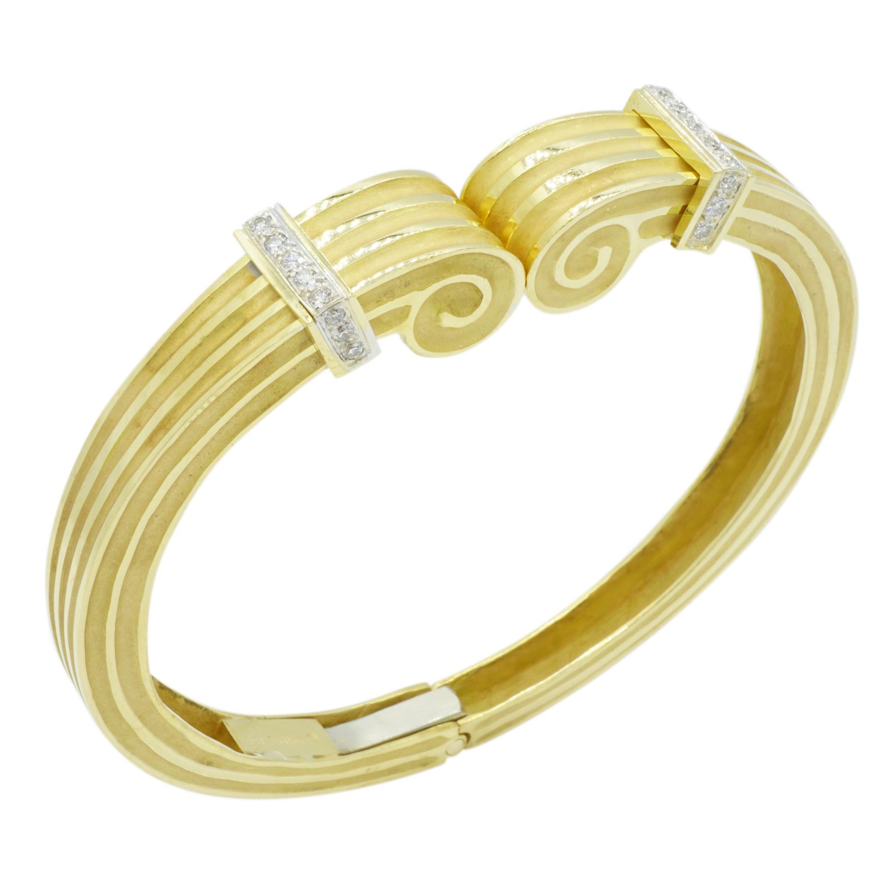 14kt Yellow Gold and Diamond Bracelet