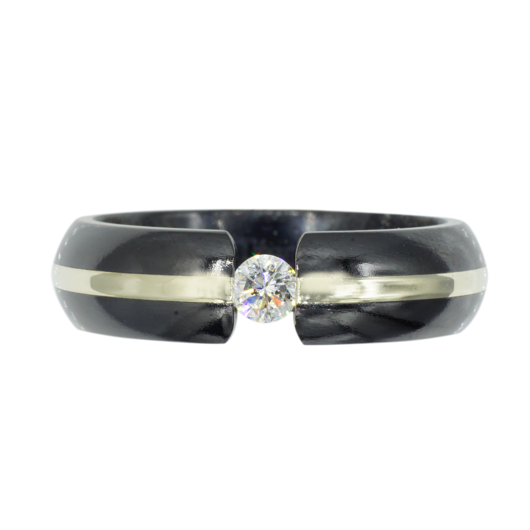 Men's Tungsten, Diamond and Stainless Steel Band