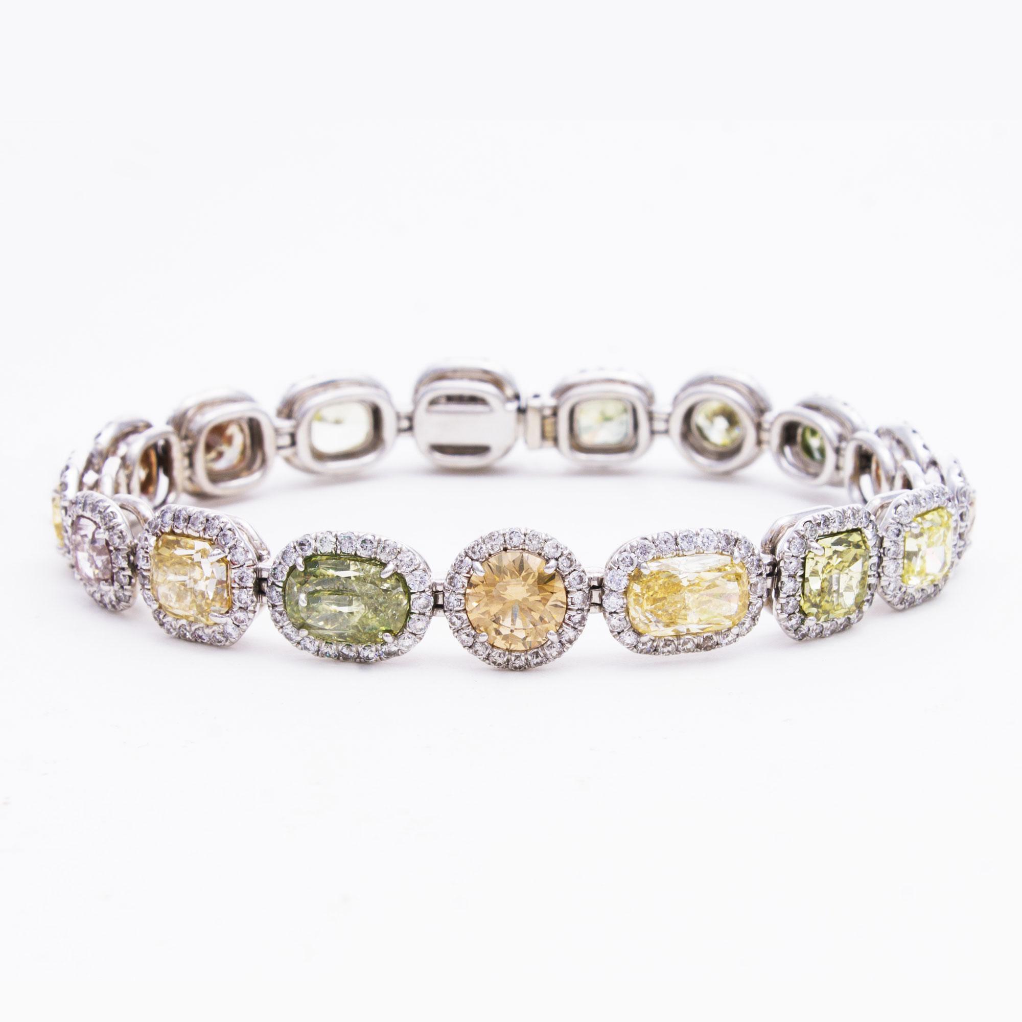 Platinum-Colored-Diamond-Bracelet