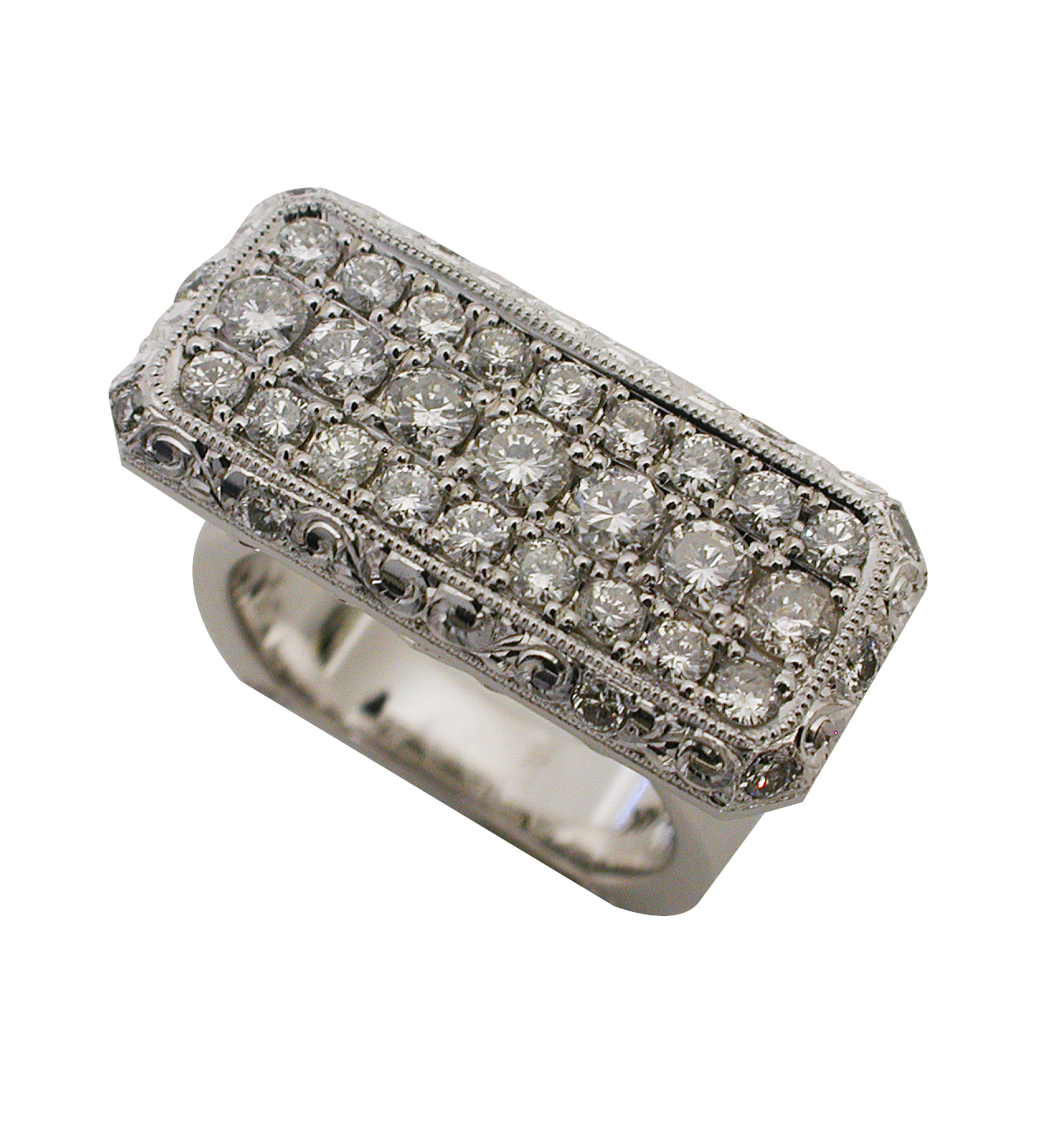 Platinum & 14kt White Gold Diamond Ring