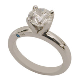 Platinum Round Brilliant Diamond Solitaire Ring